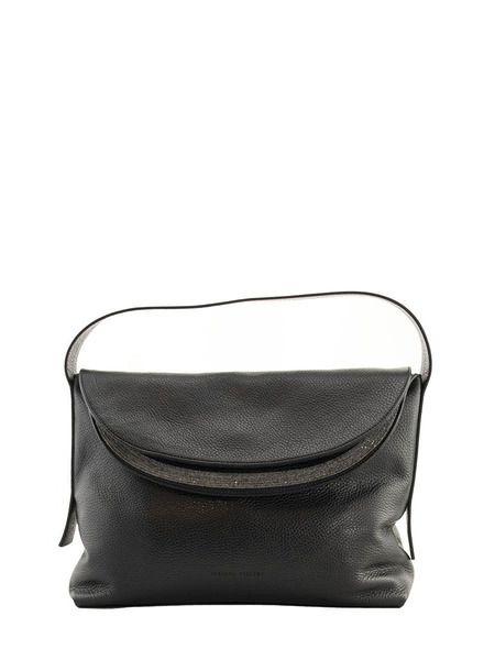 Черная кожаная сумка Carlotta Fabiana Filippi фото