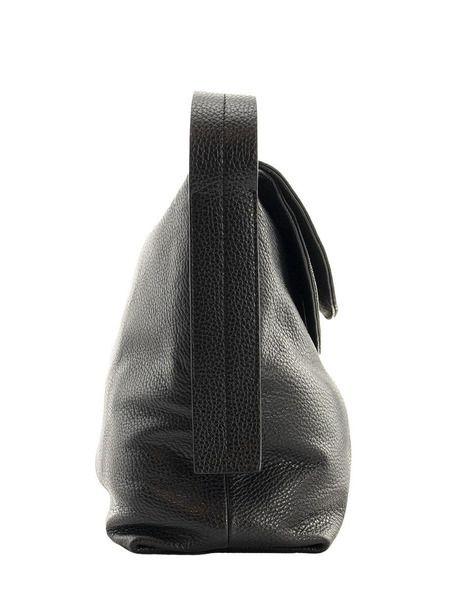 Черная кожаная сумка Carlotta