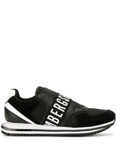 Черно-белые кроссовки с лого Bikkembergs фото