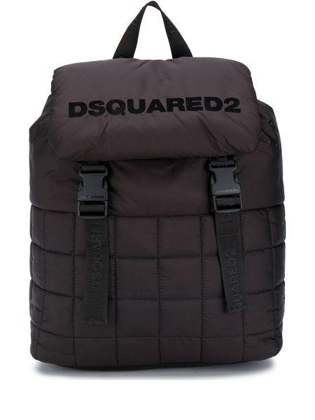 Стеганый рюкзак с логотипом Dsquared2 фото