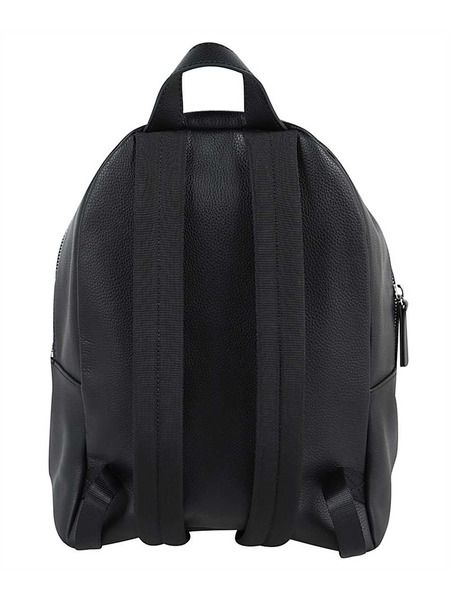 Черный кожаный рюкзак Icon
