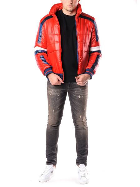 Красная стеганая куртка Bikkembergs, фото