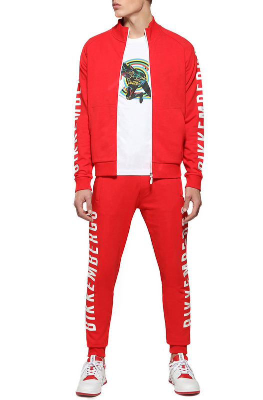 Красный спортивный костюм с логотипом Bikkembergs, фото