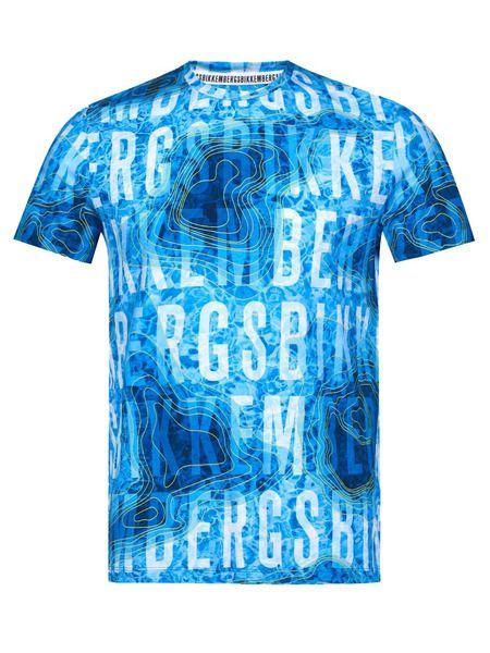 Голубая футболка с водяной картой Bikkembergs, фото