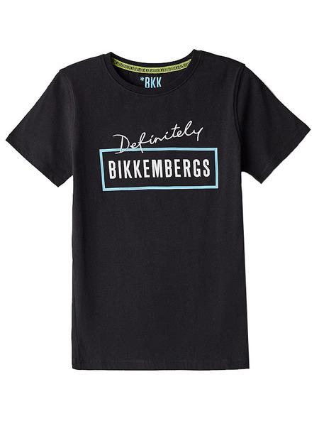 Черная футболка с логотипом Definitely Bikkembergs фото