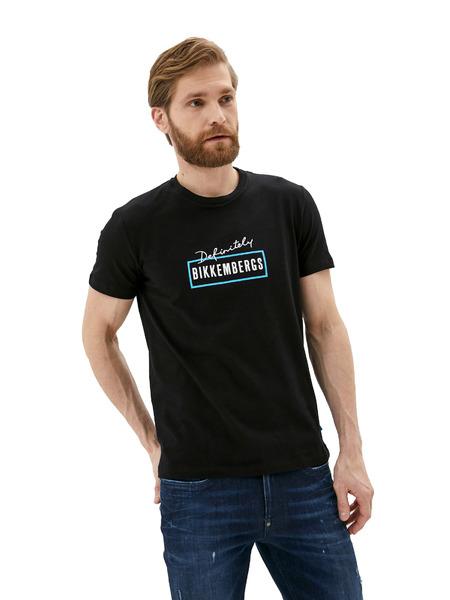 Черная футболка с логотипом Definitely Bikkembergs, фото