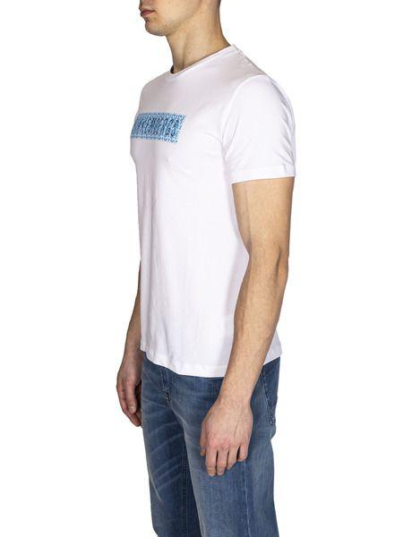 Мужская белая футболка с логотипом
