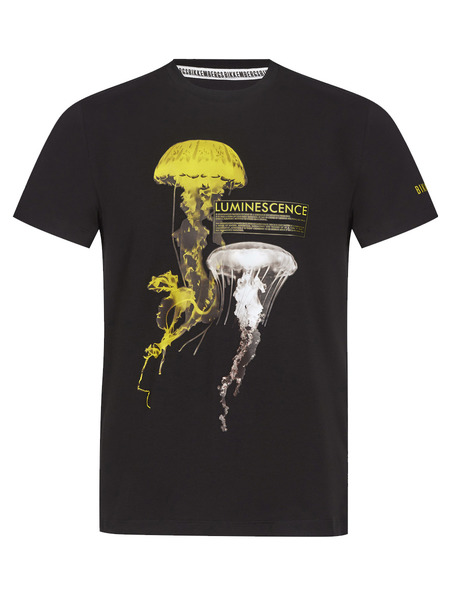 Черная футболка с медузой Bikkembergs, фото