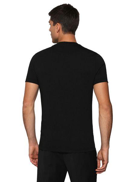 Черная футболка с принтом водной карты