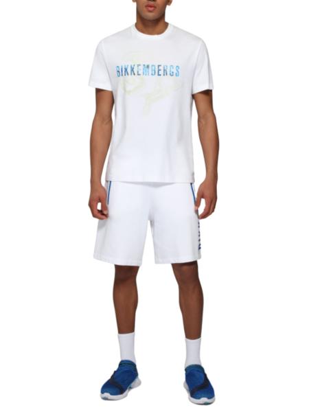 Белая футболка с логотипом Bikkembergs, фото