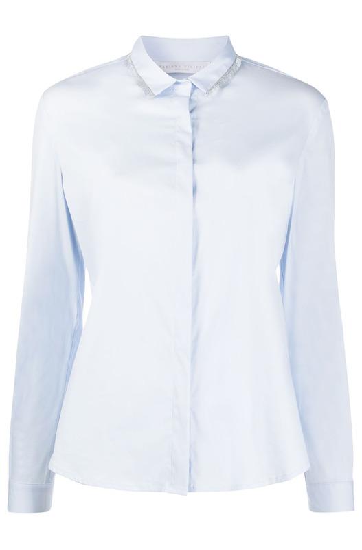 Рубашка с бахромой на воротнике Fabiana Filippi, фото