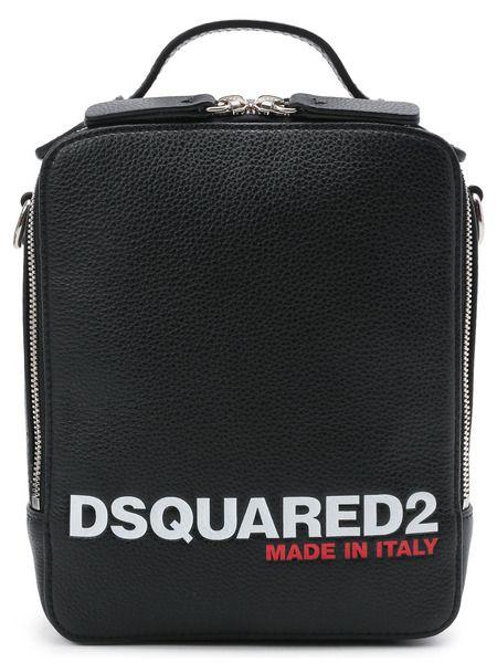 Черная сумка-мессенджер с логотипом Dsquared2 фото