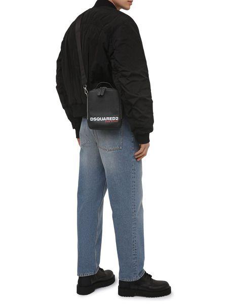 Черная сумка-мессенджер с логотипом