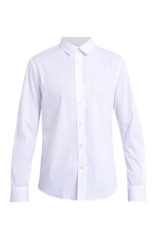 Белая рубашка из хлопкового микса Bikkembergs, фото