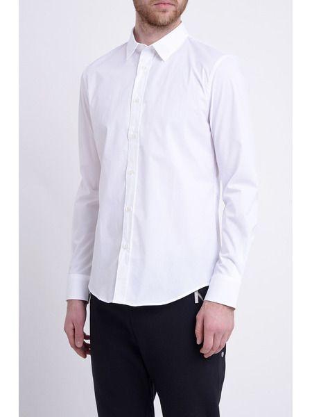 Белая рубашка из хлопкового микса