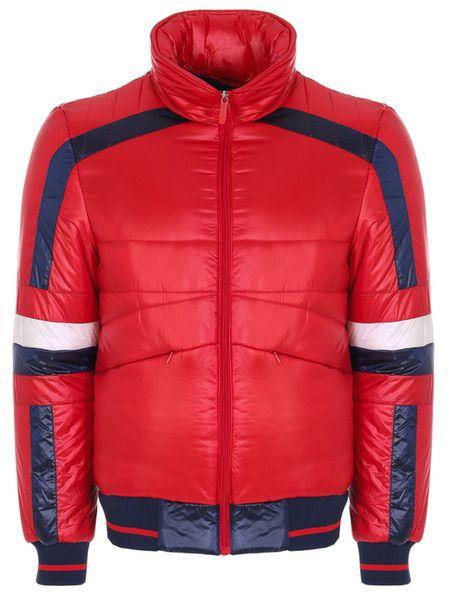 Красная стеганая куртка Bikkembergs фото