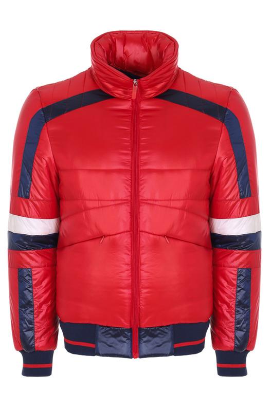 Красная стеганая куртка Bikkembergs