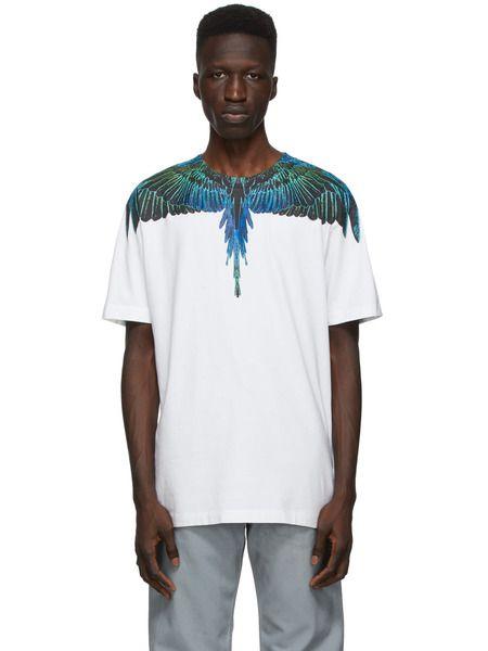 Белая футболка Wings Marcelo Burlon, фото