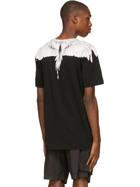 Черная футболка Wings