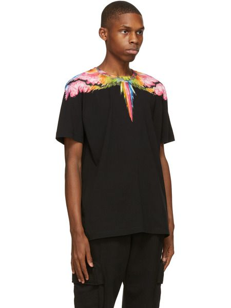 Черная футболка Colordust Wings