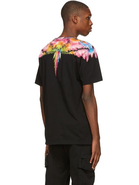 Черная футболка Colordust Wings Marcelo Burlon, фото