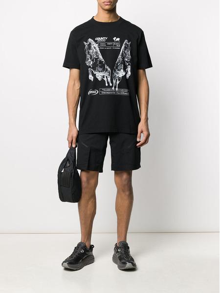 Черная футболка оверсайз с принтом Marcelo Burlon, фото