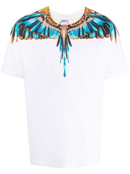 Белая футболка с принтом Grizzly Wings Marcelo Burlon, фото