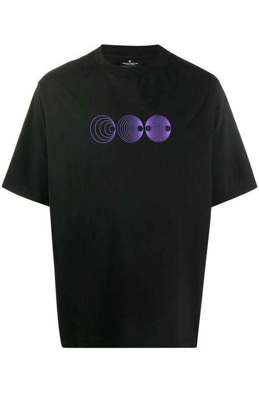 Черная футболка с принтом Poster Marcelo Burlon, фото