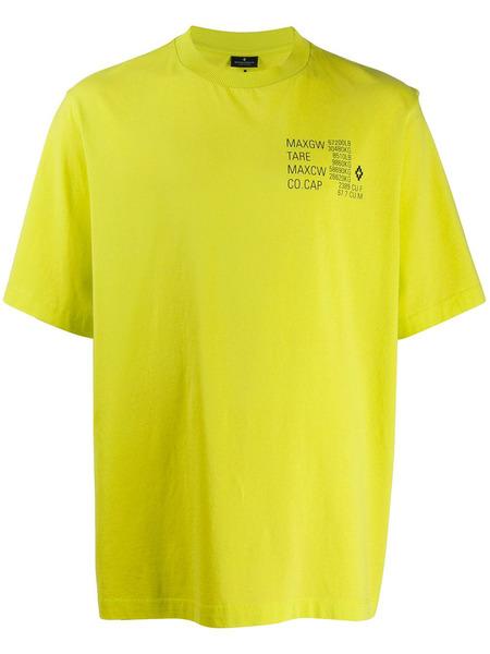 Желтая футболка с принтом Falls Marcelo Burlon, фото