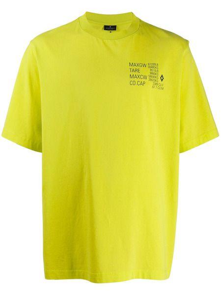 Желтая футболка с принтом Falls