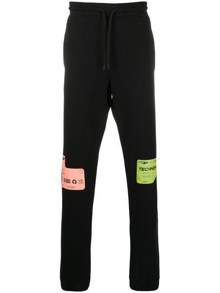 Черные спортивные брюки DBL с принтом Marcelo Burlon фото