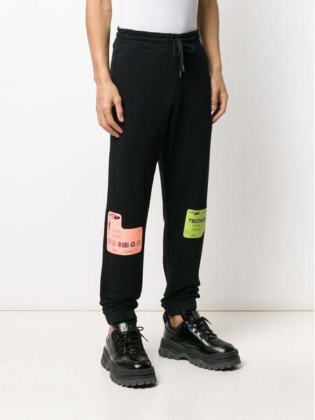 Черные спортивные брюки DBL с принтом