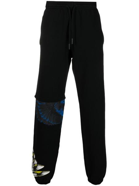 Мужские черные спортивные брюки с принтом Wings Marcelo Burlon, фото