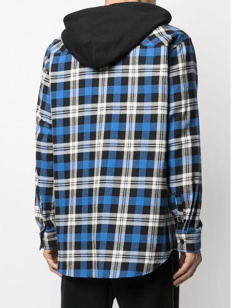 Клетчатая рубашка с капюшоном