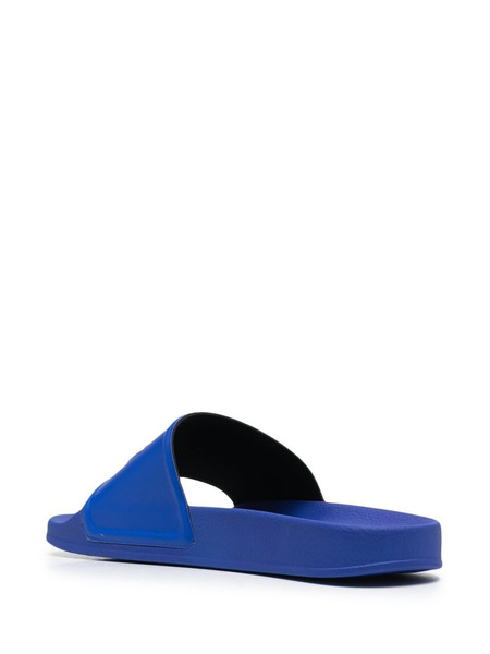 Синие шлепанцы с логотипом Marcelo Burlon, фото