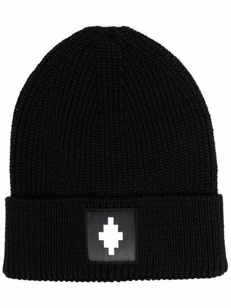 Черная шапка бини с нашивкой-логотипом Dsquared2 фото