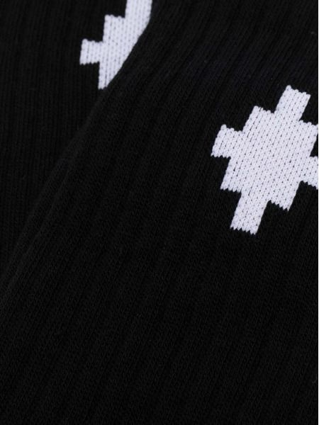 Черные носки с узором