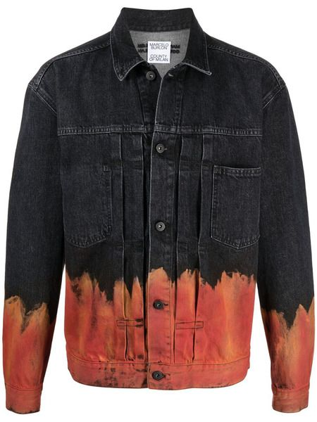 Джинсовая куртка Bleach Flame Marcelo Burlon фото