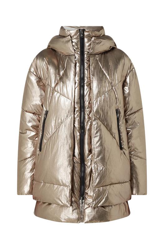 Стеганая куртка с эффектом металлик Eugenie Canadian, фото