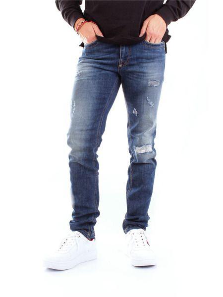 Прямые синие джинсы Bikkembergs фото