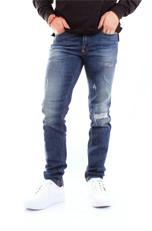 Прямые синие джинсы Bikkembergs, фото