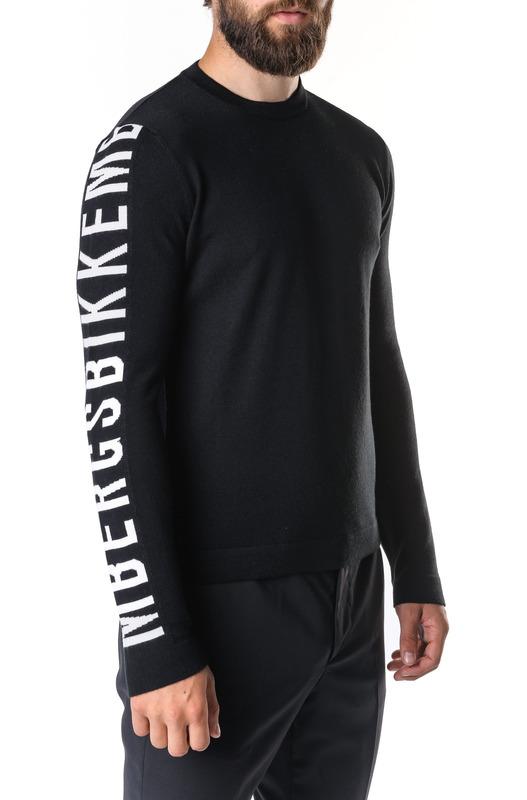 Черный джемпер с логотипом Bikkembergs, фото