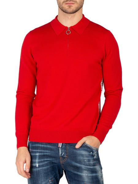 Красный джемпер на молнии Bikkembergs, фото