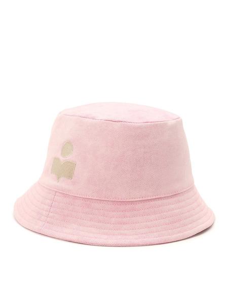 Розовая панама с вышитым логотипом Isabel Marant, фото
