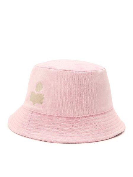Розовая панама с вышитым логотипом Isabel Marant фото