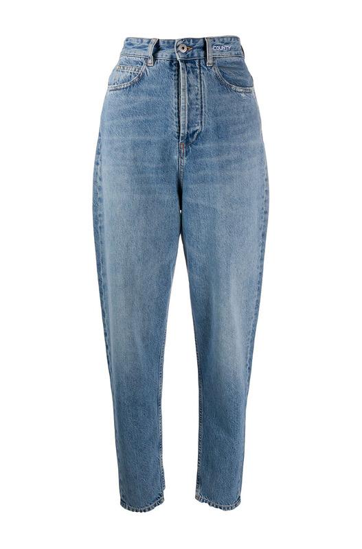 Зауженные джинсы-мом с завышенной талией Marcelo Burlon, фото