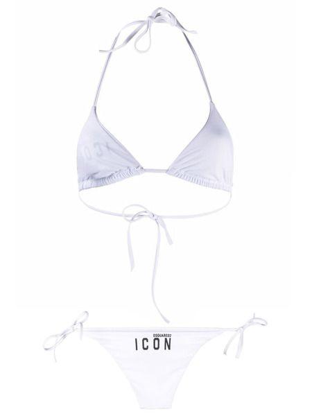 Раздельный купальник бикини белого цвета ICON