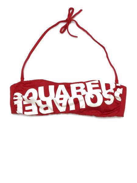Раздельный красный купальник Dsquared2, фото