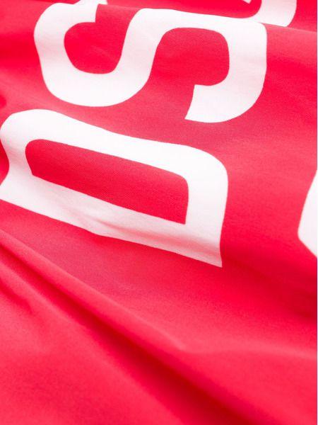 Красные плавки-шорты с принтом Icon