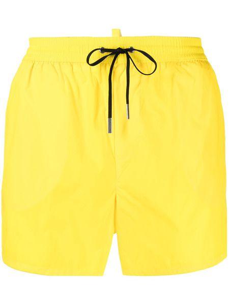 Плавательные шорты Midi желтого цвета Dsquared2 фото